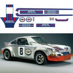 Stickers adhésifs réplique Porsche 911 Classic Martini Racing