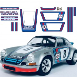 Porsche 911 classic martini Racing replica adhesives