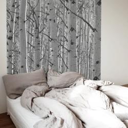Tête de lit en bouleau pour chambre