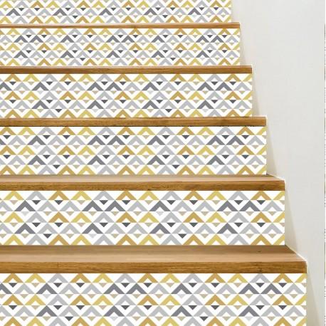 Vinilo para escalones de estilo geométrico