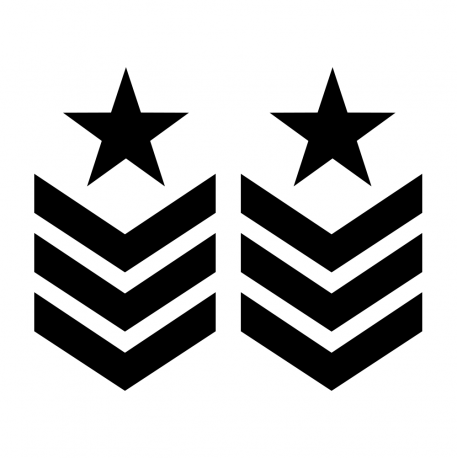 4X4 Off Road Aufkleber Military Star Galon
