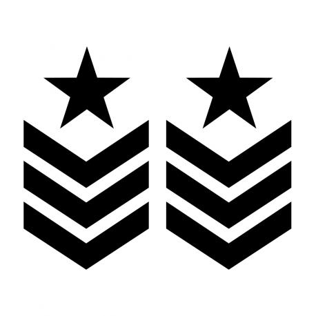 Pegatinas 4X4 Off Road Estrella Militar Galon