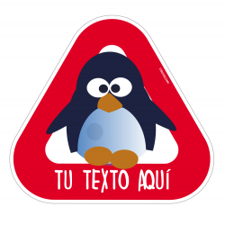 Baby sticker on board Penguin