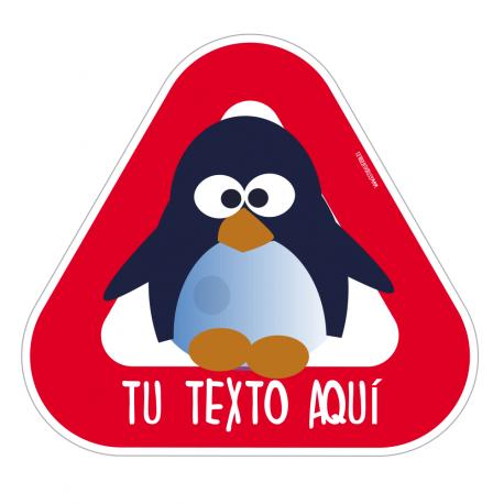 Pegatina bebé a bordo Pingüino