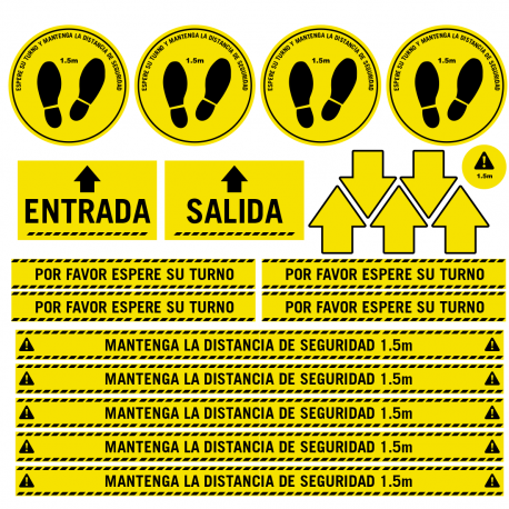 Pack vinyle antidérapant pour les distances de sécurité des sols