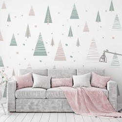 Nordic style trees for wall