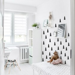 Nordic style firs for wall