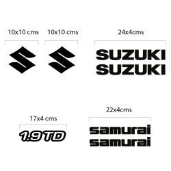Kit Stickers Déco Suzuki Samurai Diesel
