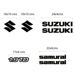 Suzuki Samurai Diesel Aufkleber Kit