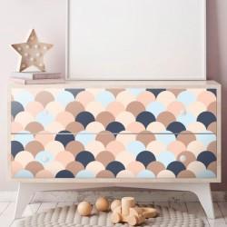 Vinyle de conception géométrique pour recouvrir les meubles de style scandi