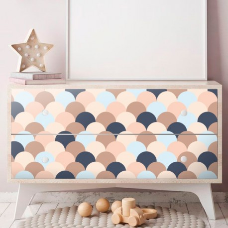 Vinilo diseño geométrico para forrar muebles estilo scandi