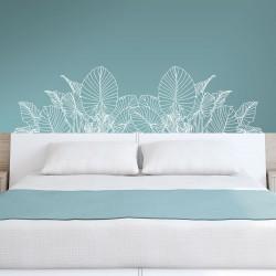 Tête de lit en vinyle pour mur floral