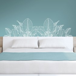 Vinyl Schlafzimmer Kopfteil für Blumenwand