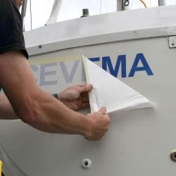 Bootsnamenaufkleber