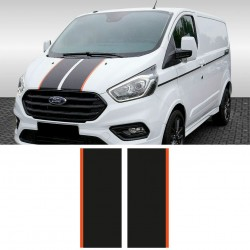 Vinyls for ford transit custom sport front lines