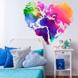 Monde d'amour de couleur
