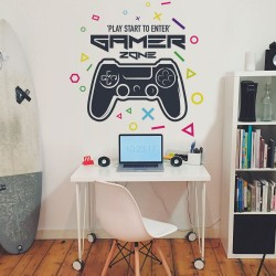 gamer vinilo pared