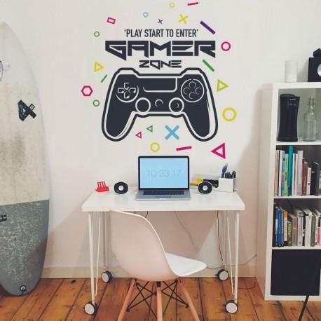 mur de vinyle gamer