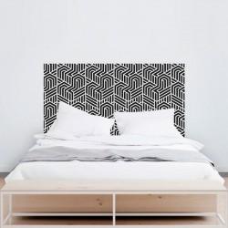 Sticker mural tête de chambre géométrique