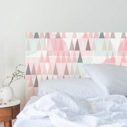 Wandaufkleber mit Schlafzimmerkopf im nordischen Stil