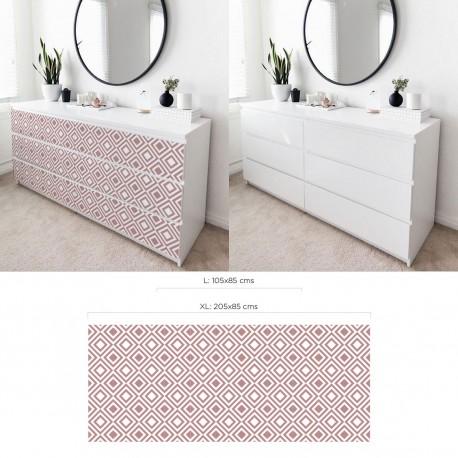 Geometrischer Stil Ikea Malm Kommode Aufkleber