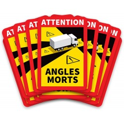 Les angles morts obligatoires en France Sticker