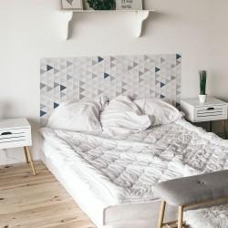 Dreiecke Schlafzimmer Kopf Wandaufkleber