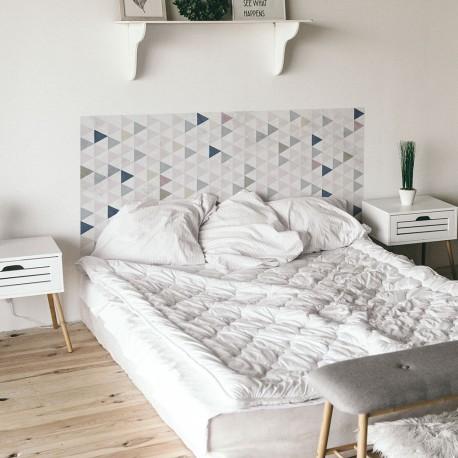 Nordic style Vinyl wall head bedroom triangles