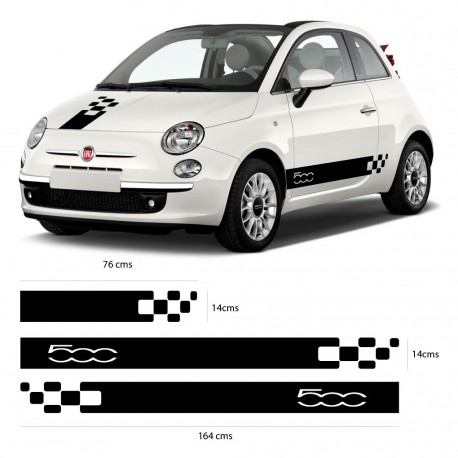Bandas laterales mini Fiat 500 actual