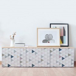 Nordic style Vinyl wall head bedroom triangles