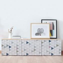 Vinyle pour recouvrir les meubles avec des triangles nordiques