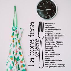 Aufkleber der katalanischen Küche