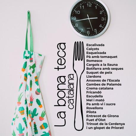 Vinilo sobre la cocina catalana