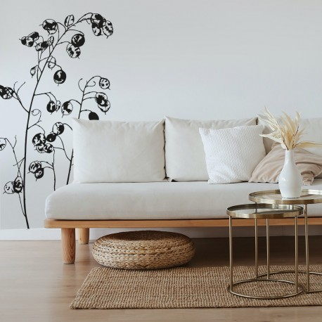 Bonito vinilo de planta para pared