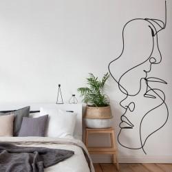Sticker mural baiser