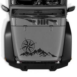 Autocollant Camper ou 4x4 Mountains