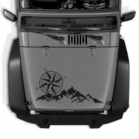 Adhesivo Camper o 4x4 Montañas