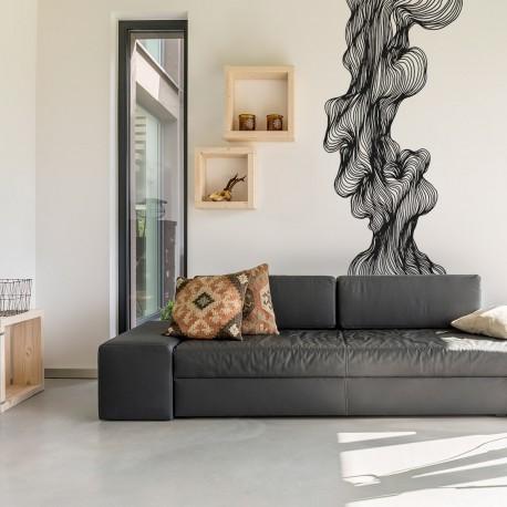 Vinilo abstracto para paredes