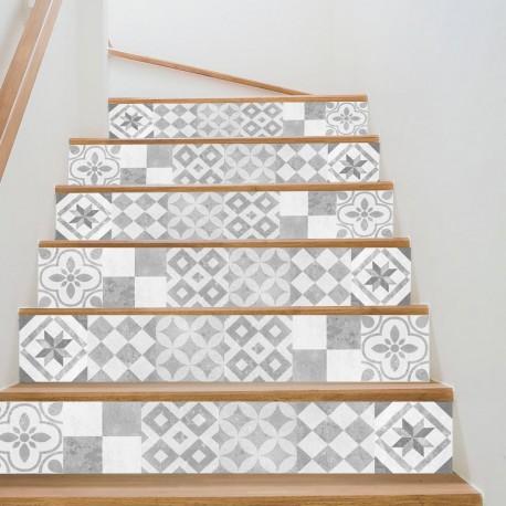 Mallorca Retro Style Step Stickers