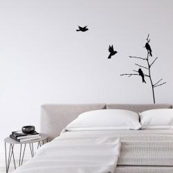 Pájaros de vinilo decorativo