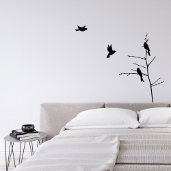 wall sticker with birds on a branch