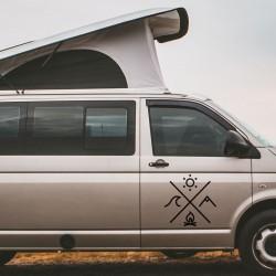 Autocollants de camping-car pour camionnettes