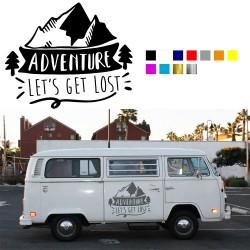 Camper Adventure Aufkleber