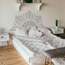 Cabecero dormitorio de vinilo para pared mandala