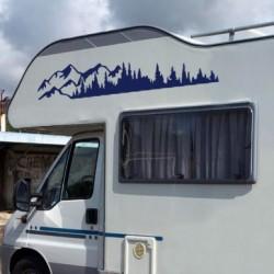 Autocollant de camping-car Nature