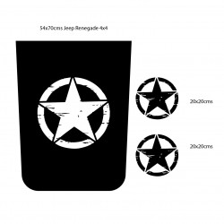 Adhesivo para Renegade estrella militar