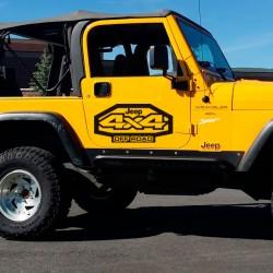 kit d'autocollants pour jeep wrangler offroad
