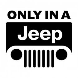 Aufkleber nur in einem Jeep