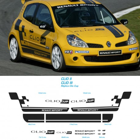 Clio Cup sport replica vinyls