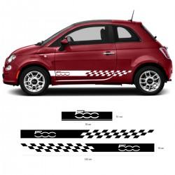 Bandes latérales actuelles de la Fiat 500 racing